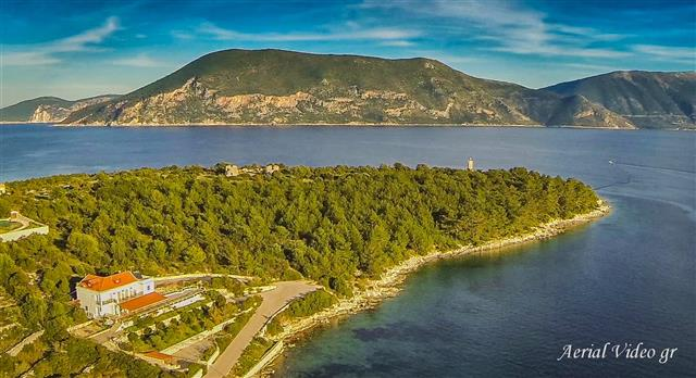 kefalonia aerial photo fiskardo