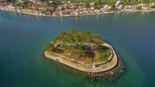 Aerial photography at Ithaka Kefalonias Greece