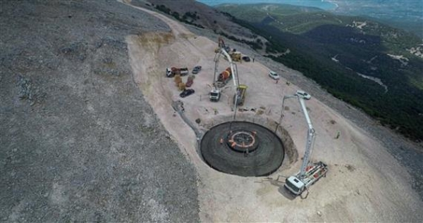 Construction Wind Generators in Kefalonia Greece